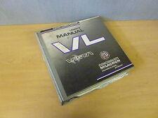 Cincinnati Milacron VL Vista Injection Molding Machine User's Manual 1995 Edit