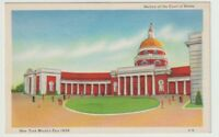 1939 Unused Postcard New York Worlds Fair Section of the Court of States NYC NY