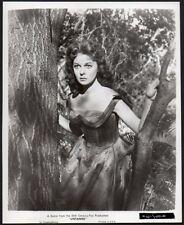 SUSAN HAYWARD 1955 Vint Orig Photo linen backed UNTAMED sexy actress outdoors