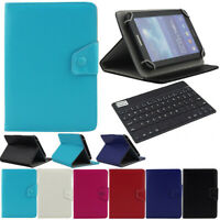 "For 9.7""-10.1"" Inch Tablet Bluetooth Keyboard Universal Leather Folio Case Cover"