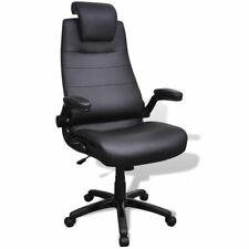 Kunstleren bureaustoel (zwart / verstelbaar) burostoel bureau buro stoel