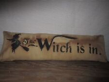 Primitive Stenciled Pillow - The witch is in