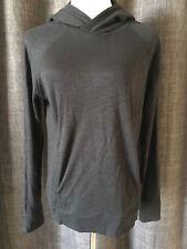 Lululemon Hooded Pullover Heathered Black Pima Cotton Sz 6