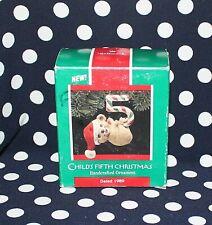 Hallmark Christmas Ornament Child's Fifth Christmas Collectible Ho2