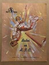 BATES COLLEGE @ AIC COLLEGE FOOTBALL PROGRAMS  1966 EX