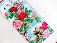 Pivoine oiseau-Bamboo Wall Scroll Personnalisé Nom Japonais Chinois Anglais 12-2