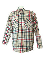 VTG 70s Frost Proof Lined Flannel Button down Plaid Dual Pocket Shirt  XL Men