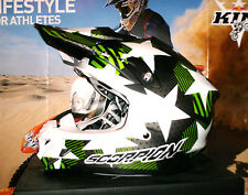 SCORPION EVO VX-15 STADIUM Pumpsystem Cross Enduro Helm matt Kawasaki KX-F NEU L
