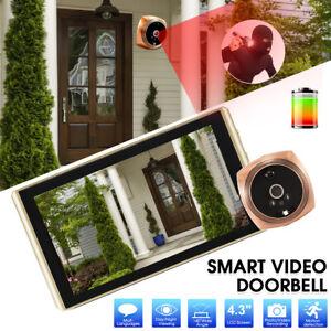 4.3'' LCD Door Eye Wifi Doorbell Peephole Digital Viewer Camera Motion Sensor
