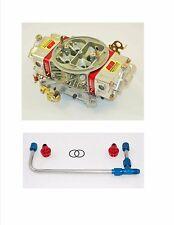 AED 750HO-RD Holley Double Pumper Carb Street / Billet Metering Blocks Fuel Line