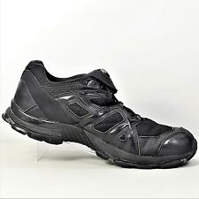 Haix Mens Black Lace-Up Running Athletic Fireman Police Shoes Size US 10