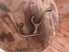 Vintage Cast Brass Hook Wall Mount Coat Hat Wall Hook Three Hook Multiple Hook