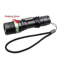 6000 LM Zoomable XM-L T6 LED Flashlight 3 Modes 18650 Torch Focus Light H#