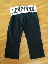 Victoria's Secret PINK 3/4 leggings with lips waistband size S - love pink logo