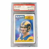 Jim Everett 1987 Topps PSA 10 Gem Mint Rookie Card #145 Low Pop Rams
