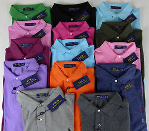 Polo Ralph Lauren NWT SS Classic Mesh 100% Cotton Polo Shirt with Pony $85 - $98
