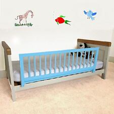Safetots Childrens Wooden Bed Rail Boys Toddler Guard Kids Safety Blue