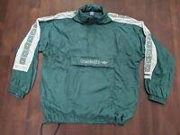 Vtg 90's Umbro Repeat Logo Windbreaker Light Track Pullover Jacket Size XL Green