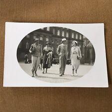 RPPC COUPLES PHOTOGRAPHED ON RAPENBURG STREET AMSTERDAM 1940's PHOTO POSTCARD