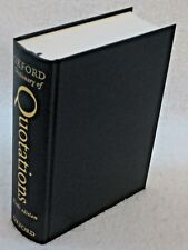 Oxford Dictionary of Quotations by Knowles Oxford Press 6th Edition 2004 Ex Ref!