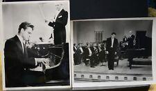 "2 VINTAGE 8""X10"" ORIGINAL PHOTO MGM RHAPSODY JOHN ERICSON PIANO"
