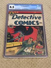 Detective Comics 45 CGC 4.5 OW/White (3rd App Joker, 1st in title-1940!) +magnet