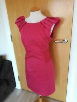 Ladies Dress Size 16 WAREHOUSE Pink Shift Party Evening Wedding Races