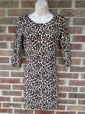 MODA International Leopard  Dress Above Knee Size Small