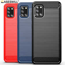 For Samsung Galaxy A71 A51 A41 A31 A21 A11 M01 Slim Carbon Fiber TPU Case Cover