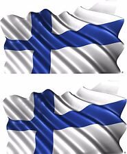 2-Set Finland Vehicle Flag Trailer Boat Car Wall Art Truck Sticker Decals Wrap