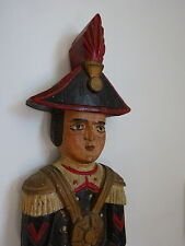 Vintage Folk Art Wooden Soldier Figure