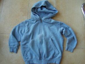 * Coole türkise Sweatshirt Weste Gr. 116 - Jungs *