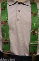 "Suspenders 2""x48"" FULLY Elastic animal Moose NEW Green"