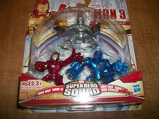 Marvel Super Hero Squad Iron Man Mark III Mark I Iron Monger  3 pack
