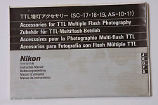Nikon TTL Accessories SC & AS Units Instruction Manual Book - J E G F S USED B3