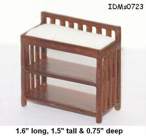 CHANGING TABLE 1:24 HALF SCALE DOLLHOUSE MINIATURES Heirloom Collection