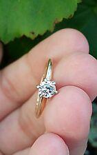 °☆ No Reserve ! Platinum & 14Kt Old European  Diamond Engagement Wedding Ring ☆°