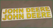 "Very Nice John Deere Logo High Cast Vinyl Decals Stickers 1 3/8"" x 14"" Super x2"