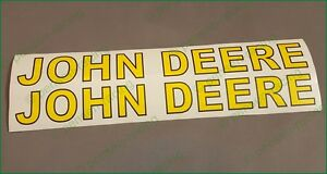 "Very Nice John Deere Logo High Cast Vinyl Decals Stickers 1 3/8"" x 14"" Super x2"