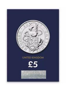 QUEENS BEASTS five pound 2017 UK Unicorn of Scotland BU Coin RARE