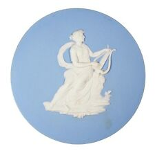 Large Antique 18th Century Wedgwood Plaque Classical Woman Goddess Playing Lyre