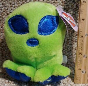 Puffkins Roswell Green Alien Plush Stuffed Toy