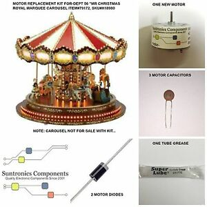 Mr Christmas Royal Marquee Carousel-Item#79172 -REPLACEMENT PART - MOTOR KIT