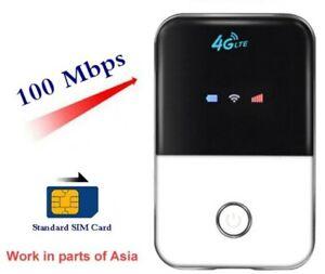 Pocket Wifi Router 4G Lte Hotspot Wireless Broadband Mifi Modem Sim Card Slot