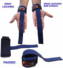 Austodex Weight Lifting Power Bar Wrist Straps wraps Bodybuilding Gym gloves