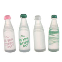5X 1:12 Mineral Water Drink Bottles Dollhouse Miniature Toy Kitchen Food Toy FBD