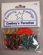 Favorite Findings Cowboy's Paradise - 8 Cowboy Buttons
