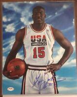 Larry Johnson PSA Authenticated Hand Signed 11x14 Photo UNLV Team USA