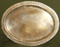 Vintage metal oval serving tray