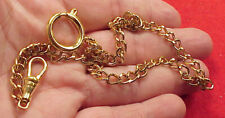 Vintage Gold Plated Fine Link Mans Pocket Watch Chain 13.5 inch